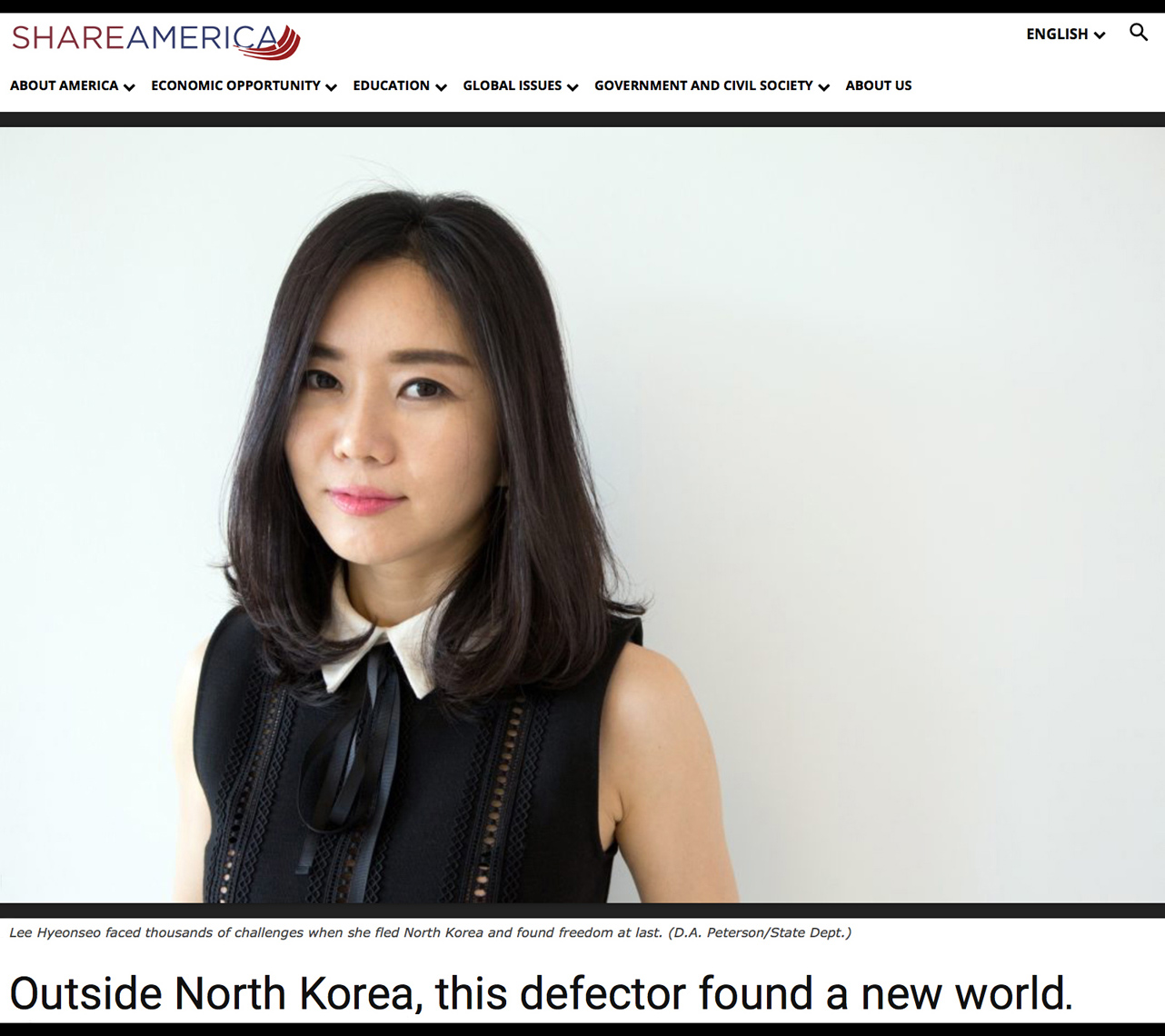North Korean Defector Hyeonseo Lee
